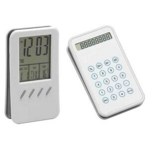 Calendar and Calculator Clock